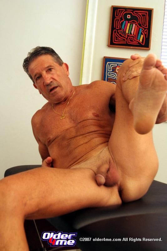 Gay man masturbating older